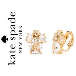 NWT Kate Spade make me blush earrings gold tone